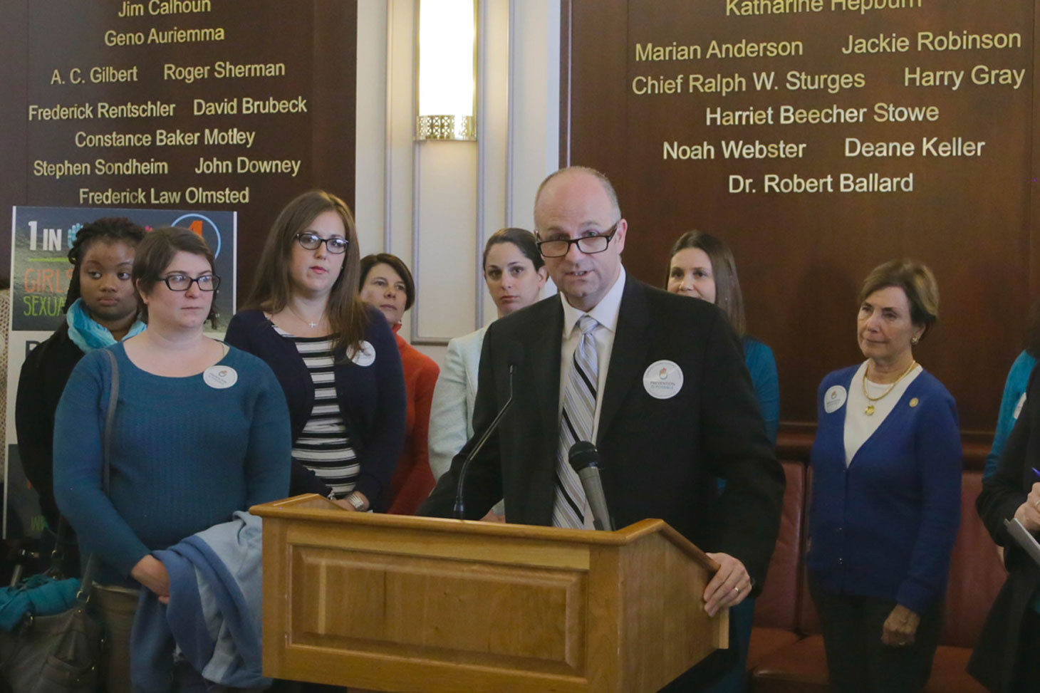 Rep. Haddad speaks at Sexual Assault Awareness Month